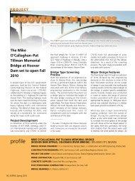 Hoover Dam Bypass - Aspire - The Concrete Bridge Magazine