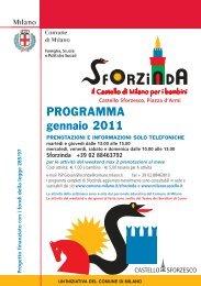 Calendario Gennaio 2011 - Castello Sforzesco
