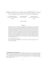Multistep Predictions for Multivariate GARCH ... - Kurt Schmidheiny