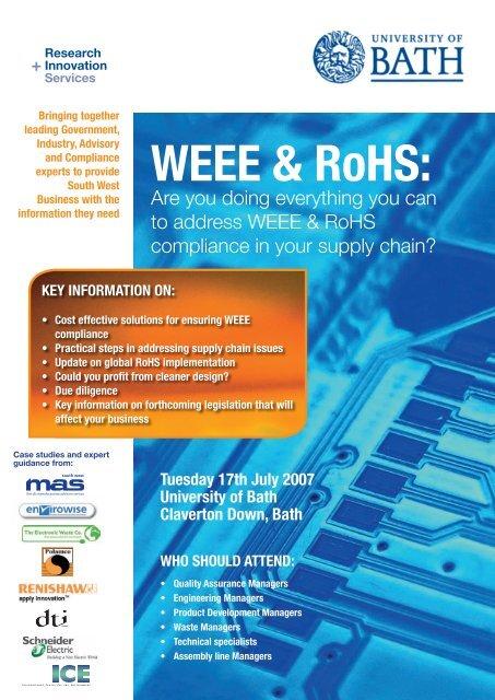 WEEE & RoHS: - SWMAS