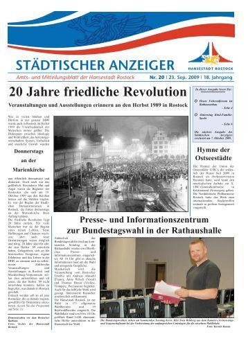 20 Jahre friedliche Revolution