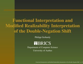 Functional Interpretation and Modified Realizability Interpretation of ...