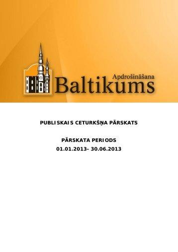 Finanšu rādītāji par 2013.gada 2.ceturksni - Baltikums