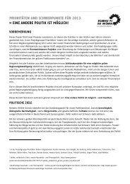 Prioritäten und Schwerpunkte 2013 - Bundestagsfraktion Bündnis ...