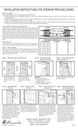 installation instructions for interior prehung doors - Masonite