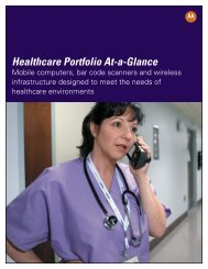 Motorola Healthcare Portfolio-At-A-Glance - Barcode Scanners