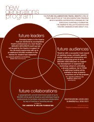 Guidelines - Theatre Communications Group