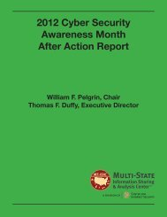 After Action Report - Multi-State Information Sharing and Analysis ...