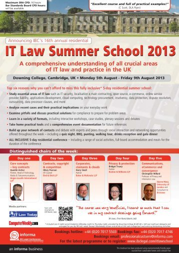 IT Law Summer School - Bristows