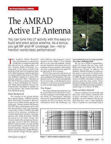 The AMRAD Active LF Antenna - ARRL