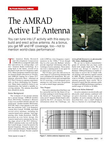 The AMRAD Active LF Antenna - ARRL