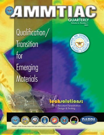 AMMTIAC Quarterly, Vol. 6, No.1 - Advanced Materials ...