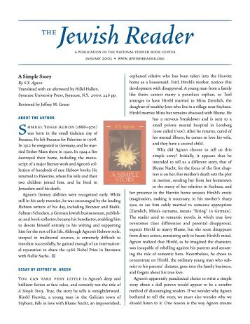 Download The Jewish Reader - Yiddish Book Center