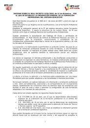 Informe RD FP 2 - FETE-UGT