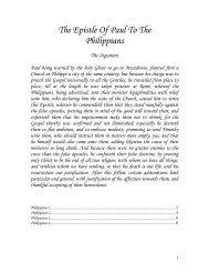 The Epistle Of Paul To The Philippians - Geneva Bible