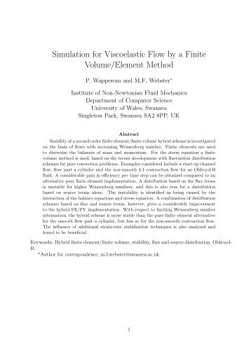 Simulation for Viscoelastic Flow by a Finite Volume/Element Method