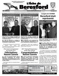 L'Écho de Beresford novembre 2011 - Canadamunicipal.ca