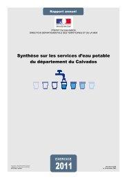 synthèse sur les services d'eau potable du département du Calvados