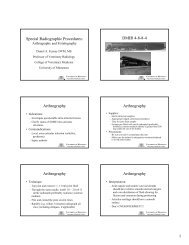 Special Radiographic Procedures: DMIR 4-8-8-4 Arthrography ...