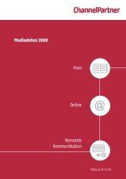 Mediadaten 2008 Print Online Vernetzte Kommunikation