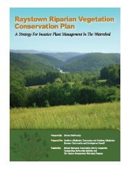 Raystown Riparian Vegetation Conservation Plan - Natural ...