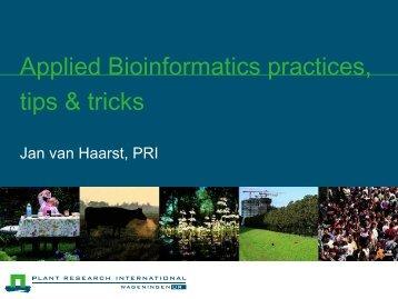 Bioinformatics practices, tips & tricks