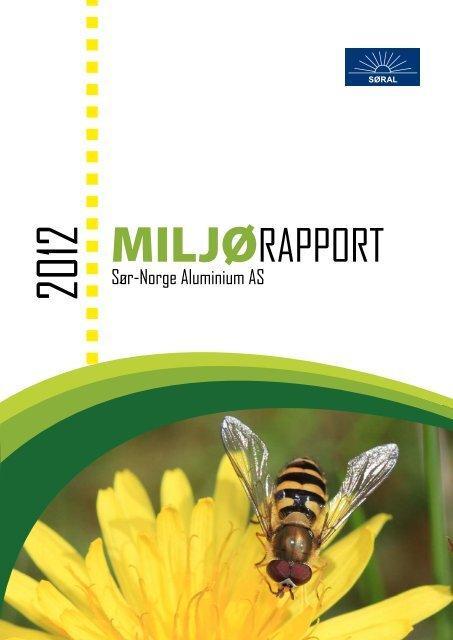 MILJØRAPPORT - Sør-Norge Aluminium AS