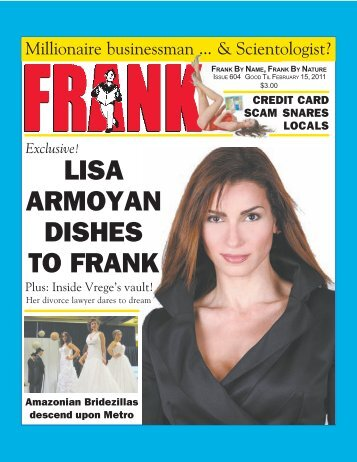 LISA ARMOYAN DISHES TO FRANK - Besthostingplanever.com