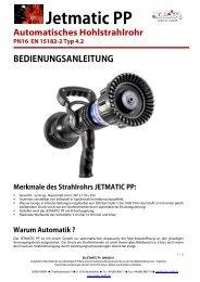 Bedienungsanleitung Jetmatic PP Hohlstrahlrohr (1.84 Mo) - Leader