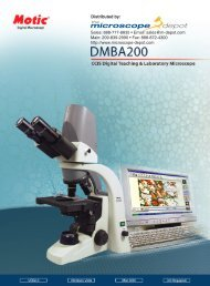The Microscope Depot - Motic - DMBA200