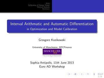 Interval Arithmetic and Automatic Differentiation in ... - Autodiff.org