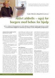 Aktivt ældreliv – også for borgere med behov for hjælp