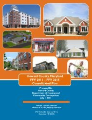 Consolidated Plan 2011-2015 - Plan Howard 2030