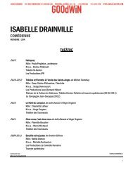 ISABELLE DRAINVILLE - Agence Goodwin