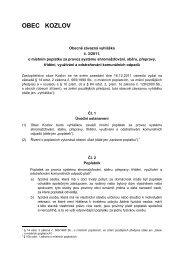 Obecně závazná vyhláška 3/ 2011 - Kozlov
