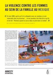 la violence contre les femmes au sein de la famille au mexique