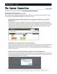 New Features – to be released May 13, 2013 - University of St. Francis