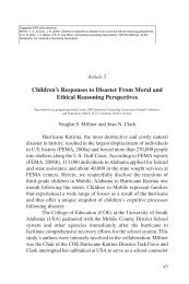 Children's responses to disaster from moral and ethical reasoning ...