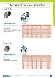 Accessoires circulaires aluminium - Aldes