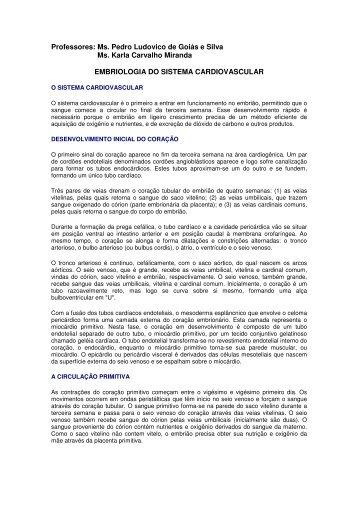 Embriologia do Sistema Cardiovascular.pdf - Ucg