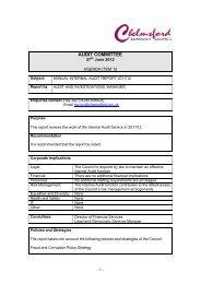 annual internal audit report - Chelmsford Borough Council