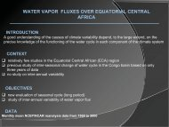 Atmospheric water cycle in Equatorial Central Africa ... - Impetus