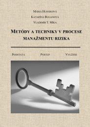 metódy a techniky v procese manažmentu rizika - Fakulta ...