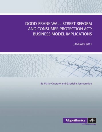 Dodd-Frank Wall Street Reform and Consumer Act ... - Algorithmics