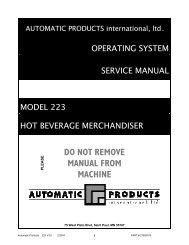 Hot Bev 223 Service - The Vending Center
