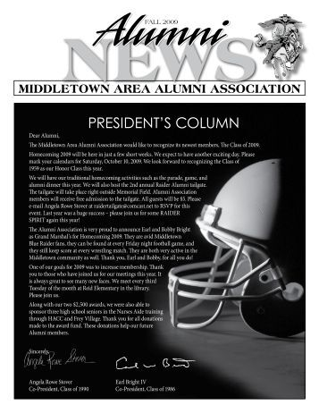 2009 Alumni Newsletter - the Middletown Area School District