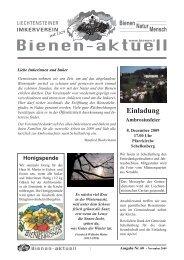 Bienen-aktuell Nr. 60.indd - Liechtensteiner Imkerverein