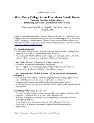 One-page summary - Indiana Pathways to College Network