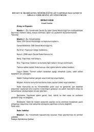 DSİ Genel Müdürlüğüne Ait Taşınmaz Mal Satışı ve Kiraya ...