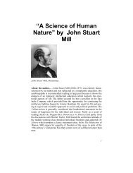 """""""A Science of Human Nature"""" by John Stuart Mill - Philosophy ..."""